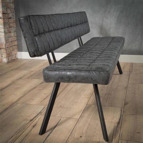 Eetkamerbank Maureen zwart - 150cm