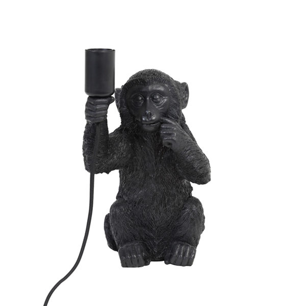Tafellamp MONKEY zwart 19,5x20x34cm
