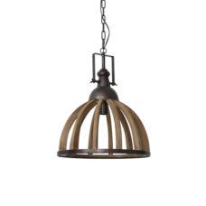 Hanglamp 47x58cm DJEM hout kop zink