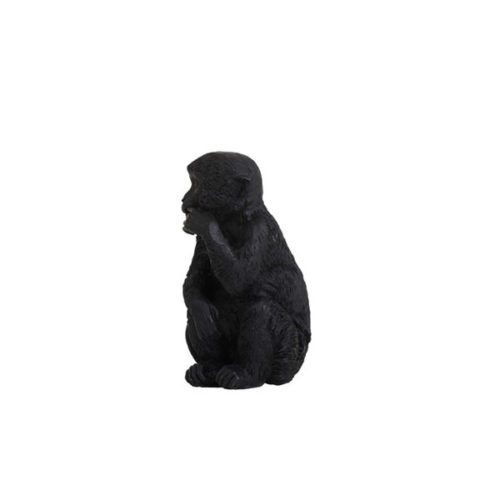 Ornament MONKEY 6x5,5x11cm zwart