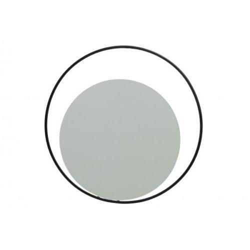 WOOOD Luella spiegel rond metaal zwart