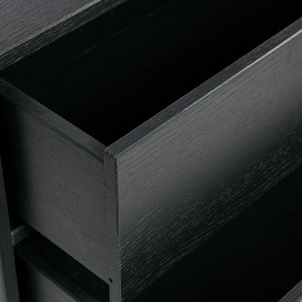 WOOOD Silas tv-meubel eiken geborsteld - black night