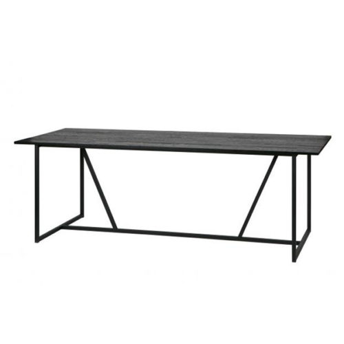 WOOOD Silas eettafel eiken geborsteld - black night