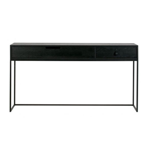 WOOOD Silas sidetable eiken geborsteld - black night