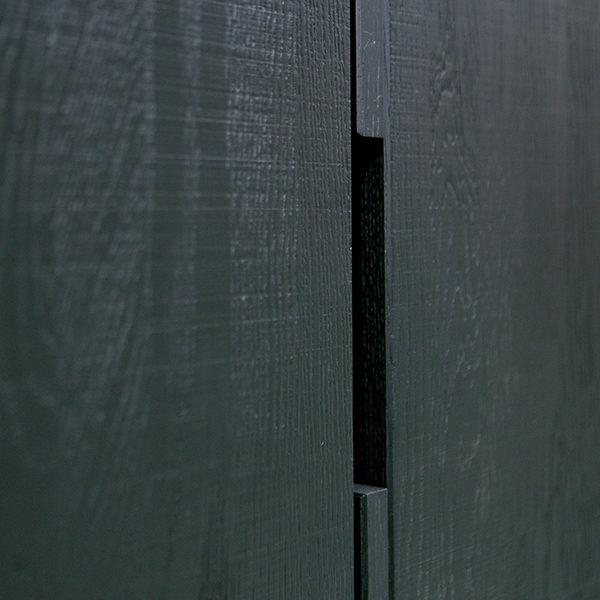 WOOOD Silas 2-deurs kast eiken geborsteld - black night
