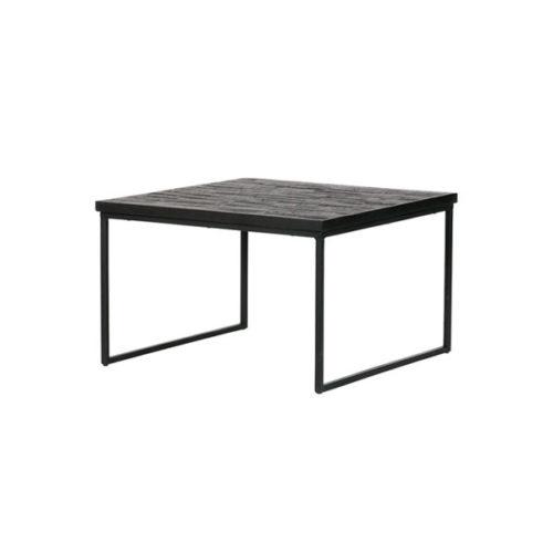 BePureHome Sharing bijzettafel vierkant zwart 60cm