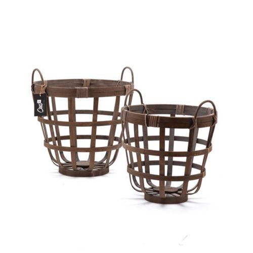 Bamboe mandenset/2 open - 33cm/40cm
