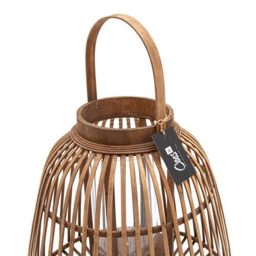 Bamboe lantaarn 39,5x39,5x42,5cm