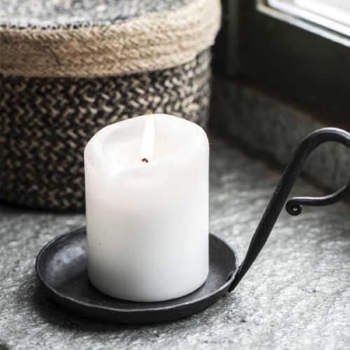 IB Laursen Kaarsenhouder zwart met handvat