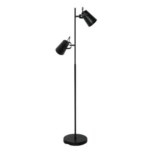 Vloerlamp Lettura 2L - Zwart
