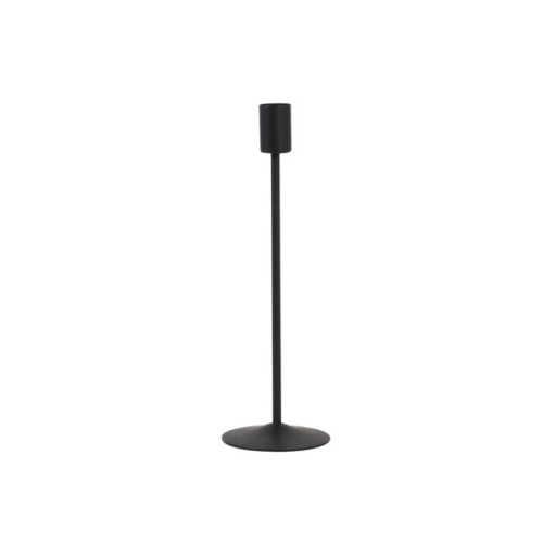 Kandelaar 8x8x25cm BORGO mat zwart