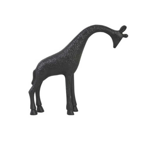 Ornament 28,5x6,5x25cm GIRAFFE mat zwart