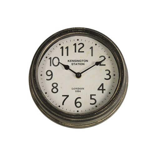 Klok rond Matty 23,5cm - Zwart