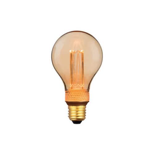 3-standen Peer Gold 7,5cm LED E27