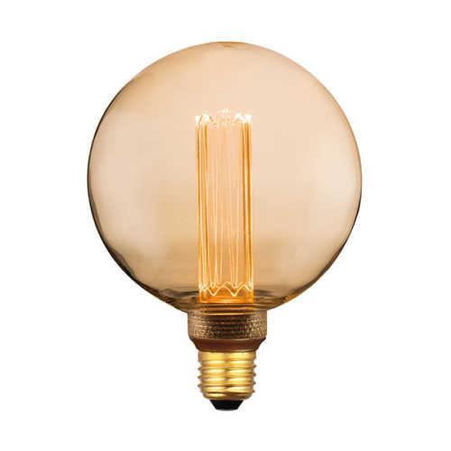 3-standen Bol Gold 12,5cm LED E27