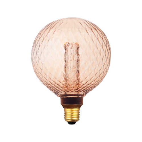 3-standen Bol Relief Gold 12cm LED E27