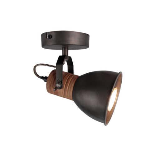 1-lichts Spot Veleno - Zwart Hout