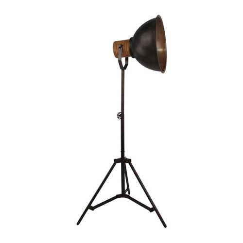 Vloerlamp Veleno 1-lichts - Zwart Hout