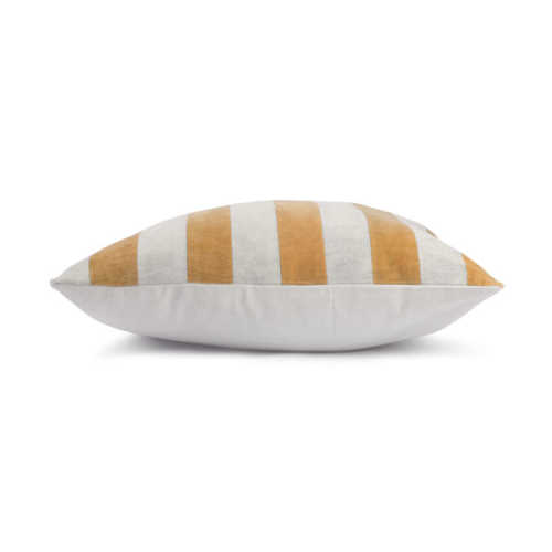 HK Living Cushion Striped velvet 50x50cm - Grey/Gold