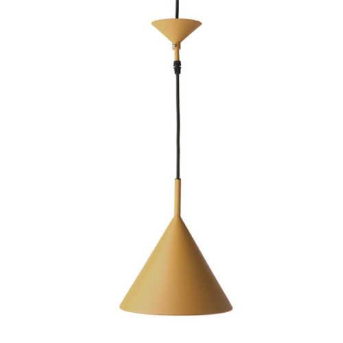 HK Living Triangle hanglamp M - Mat Okergeel