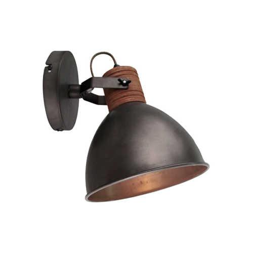 Wandlamp Veleno - Zwart Hout