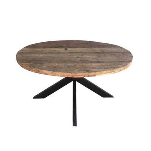 Eettafel rond met spinpoot Dakota - 130cm