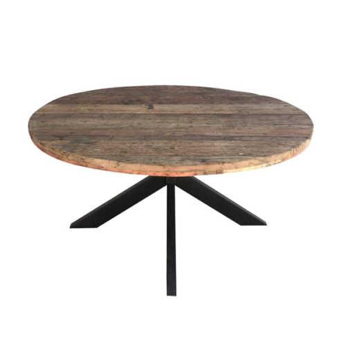 Eettafel rond met spinpoot Dakota - 150cm