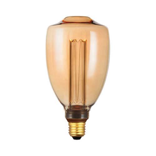 3-standen Lichtbron Gold 9x17cm LED E27