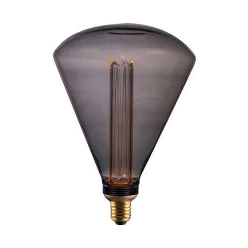 3-standen Lichtbron Smoke 17x24cm LED E27
