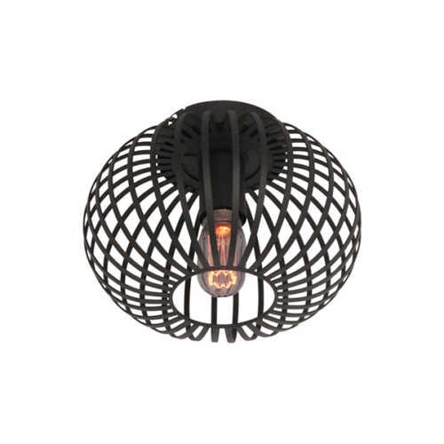 Plafondlamp Aglio 25cm - Zwart