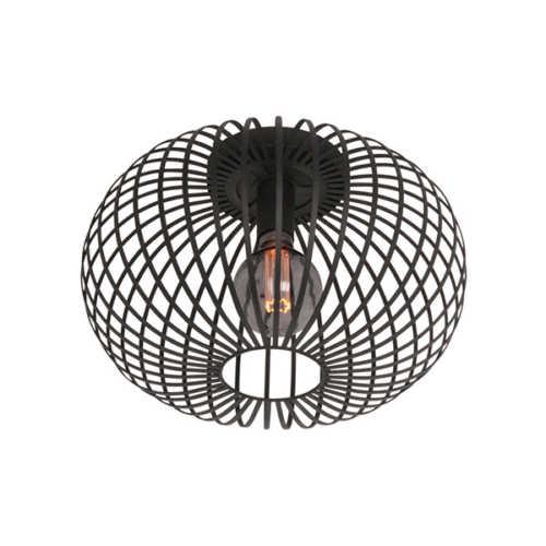 Plafondlamp Aglio 40cm - Zwart