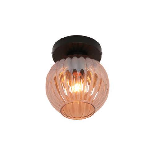 Plafondlamp Zucca - Amber glas