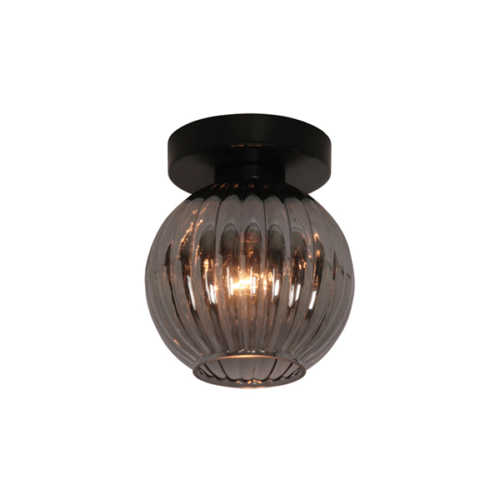 Plafondlamp Zucca - Smoke glas