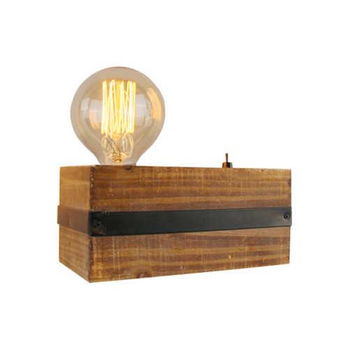 Tafellamp Legno 1-lichts - Zwart Hout
