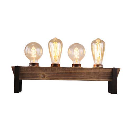 Tafellamp Legno 4-lichts - Zwart Hout