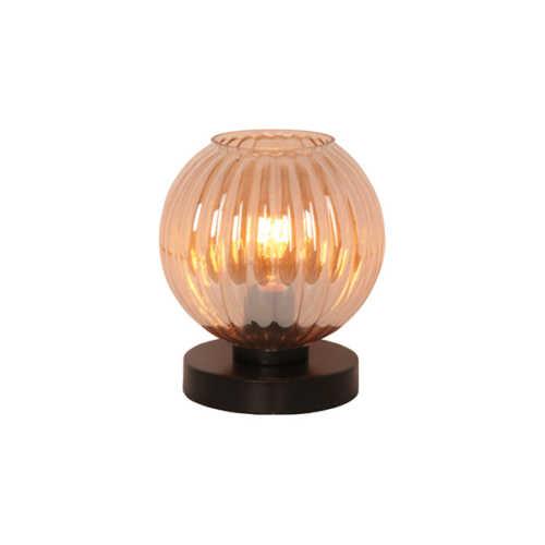 Tafellamp Zucca - Amber glas