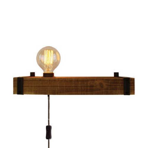 Wandlamp Legno 1-lichts - Zwart Hout