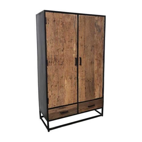 Kast met 2 deuren en 2 lades Dakota - 100cm