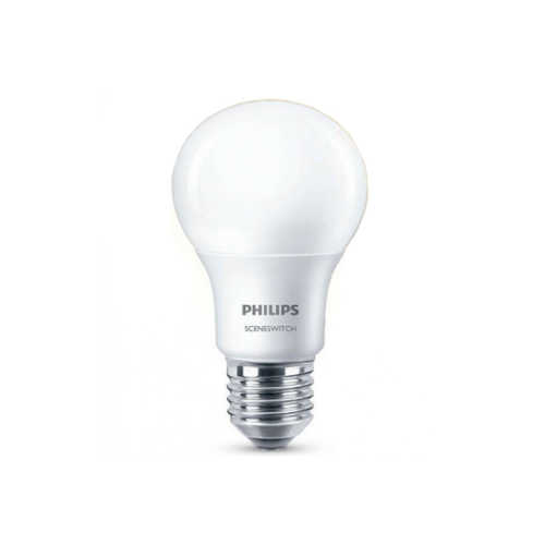 Philips 3-standen E27 Sceneswitch standaard LED opaal 8W/5W/2W