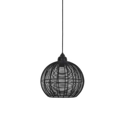 Hanglamp 32x32,5 cm MILLA mat zwart L