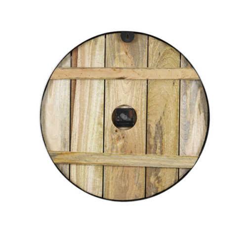 Klok 51 cm PERAKI hout+zwart