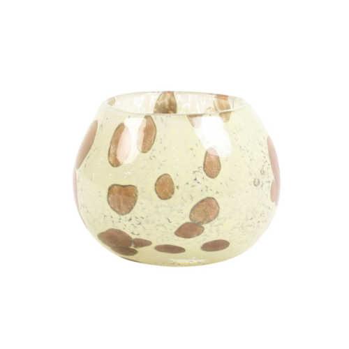 Theelicht 9x7 cm BASITA glas creme