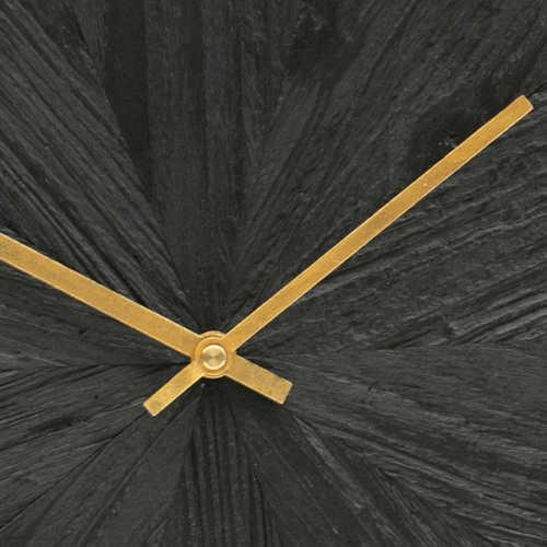 WOOOD Wandklok Valentino hout zwart