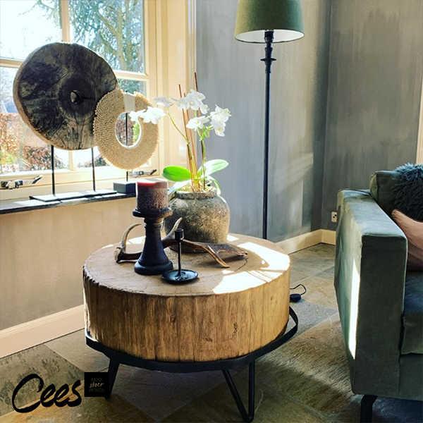 Unieke salontafel van oud wiel - 60cm
