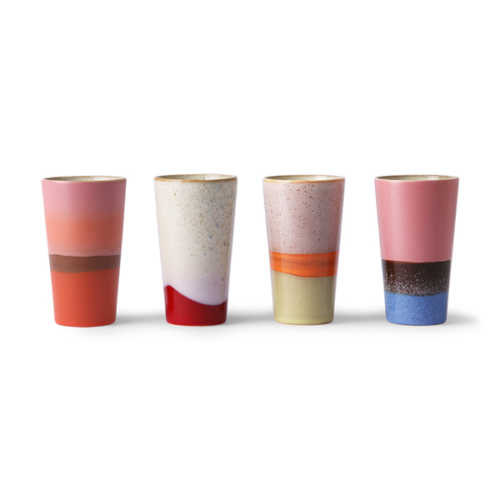 HK Living 70's Latte Mok - set/4