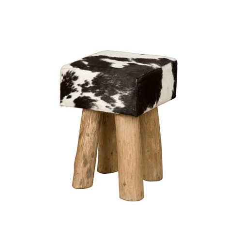Krukje met koeienprint Zwart/Wit - 30x30x45cm