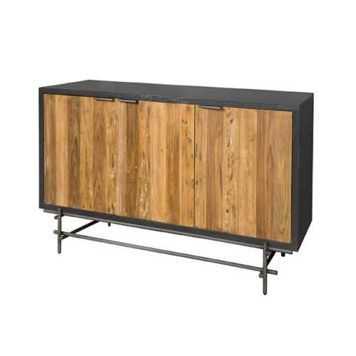 Dressoir Pesaro 165cm - Recycled teak met metalen frame