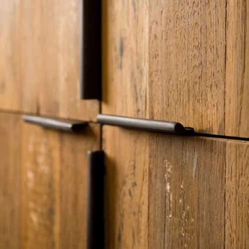 Opbergkast Pesaro - Recycled teak met metalen frame
