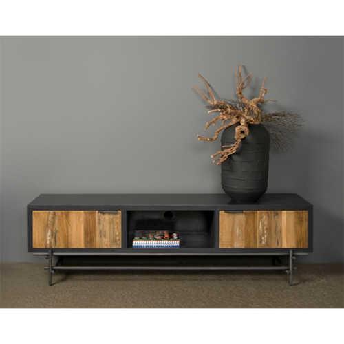 TV-meubel Pesaro 180cm - Recycled teak met metalen frame