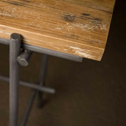 Open sidetable Pesaro 135cm - Recycled teak met metalen frame